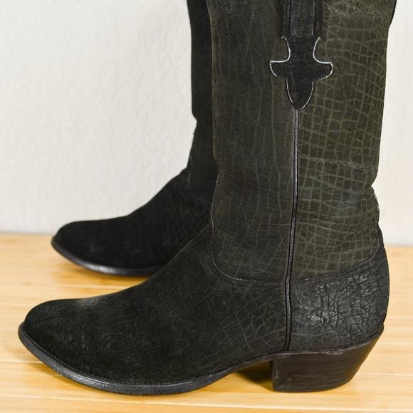 Details zu GORGEOUS! T.O. STANLEY Alligator Boots Size 11 B Men Custom Cowboy Exotic 009
